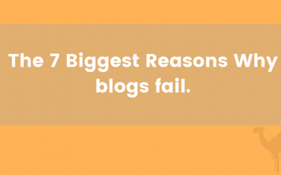 The 7 Biggest Reasons Why blogs fail.