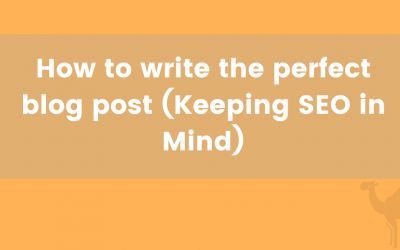 How to write the perfect blog post (SEO friendly)