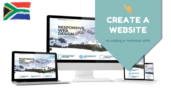how to create a website in South Africa