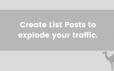Create List Posts to explode your traffic.