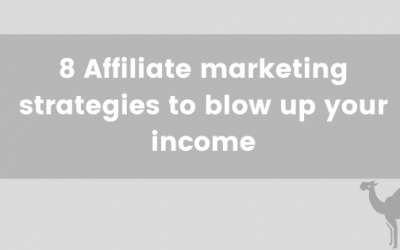 8 Affiliate marketing strategies to blow up your income