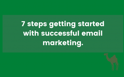 7 steps getting started with successful email marketing.
